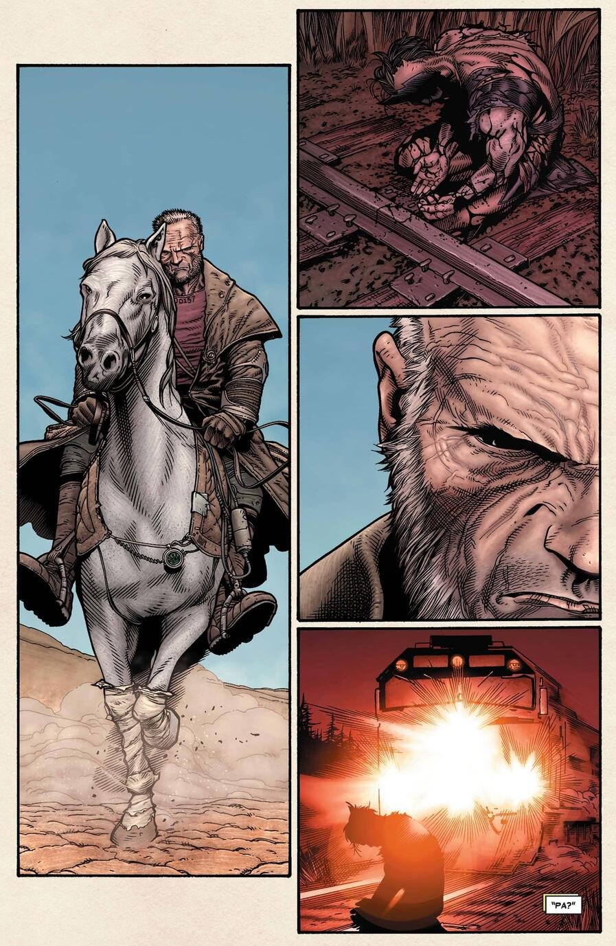 Old Man Logan in the Wasteland.