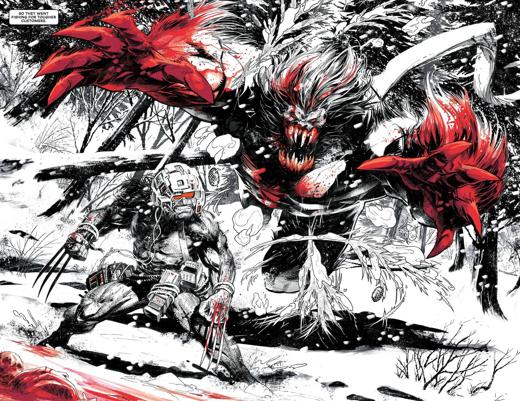 Logan cuts a swath in Black, White, and Blood.