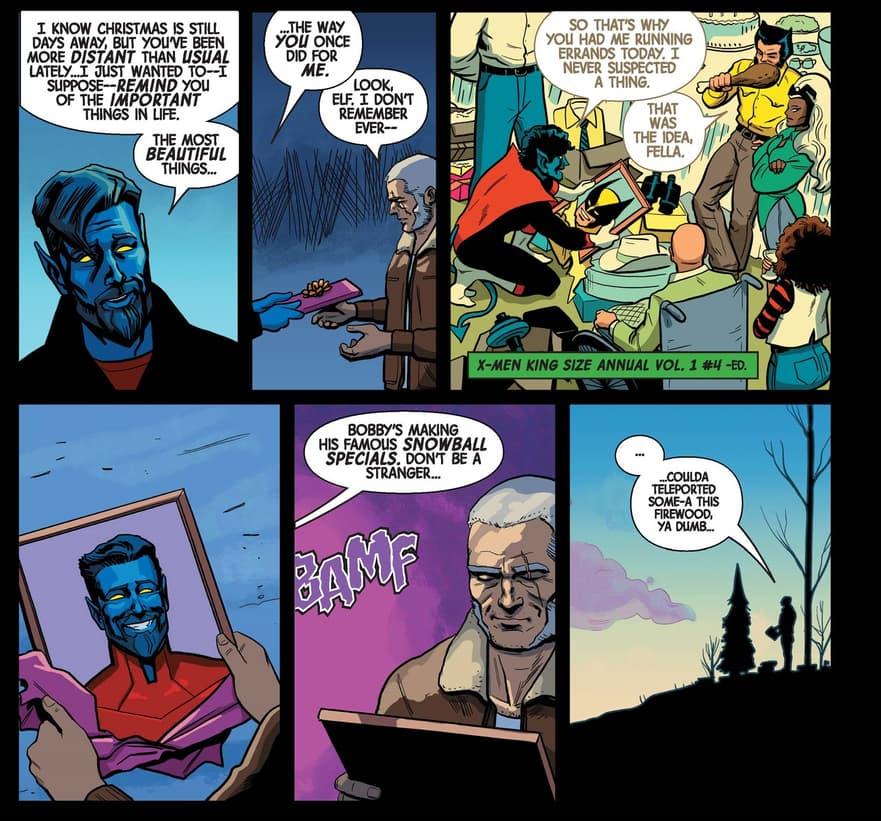 Wolverine/Nightcrawler gift exchange.