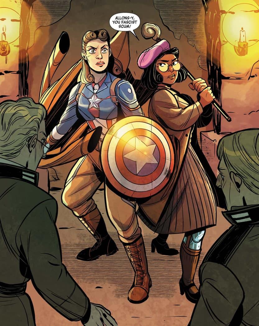 Captain Carter in Women of Marvel (2021) #1.