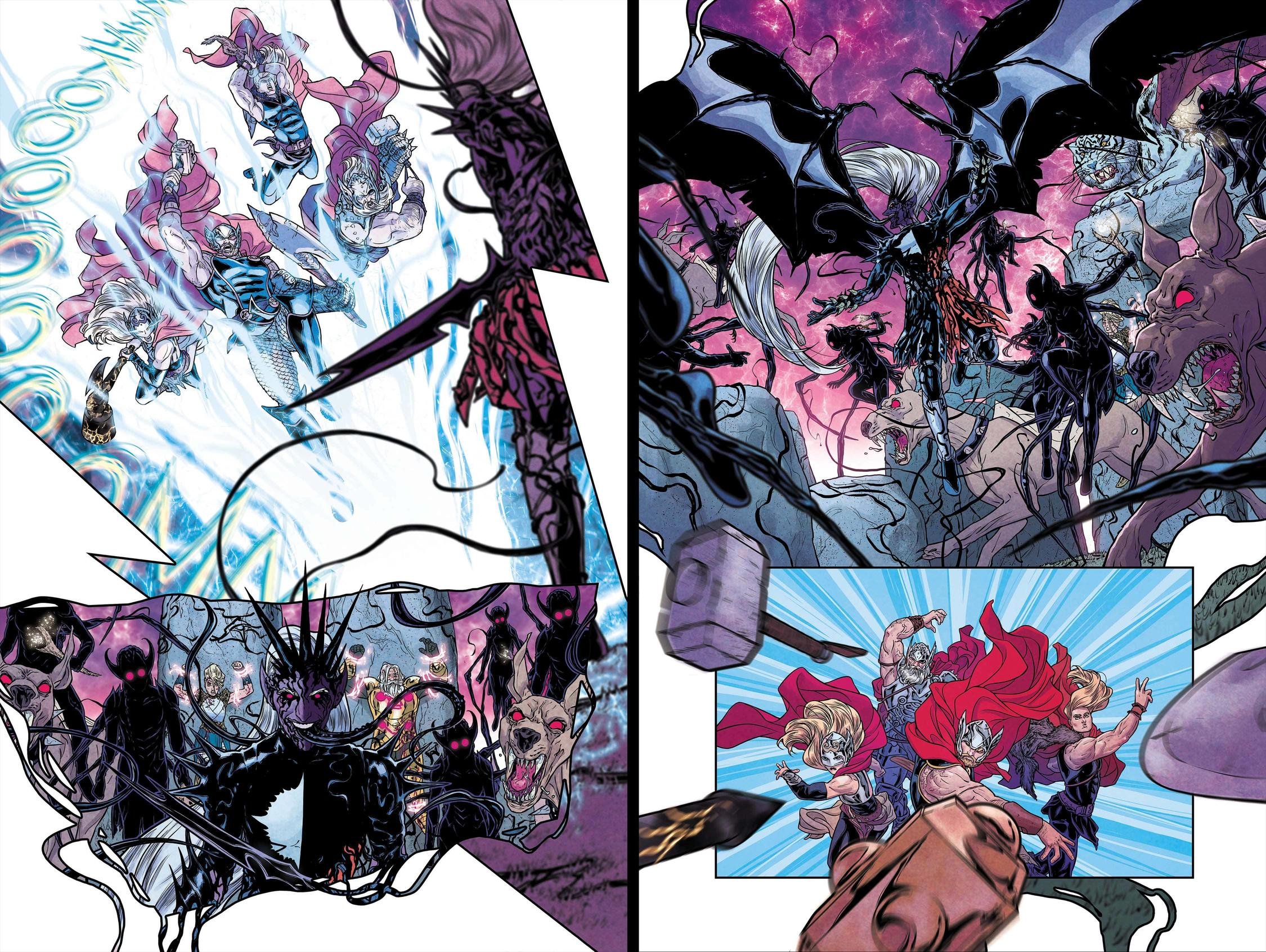 War of the Realms #6 pages 11 and 12