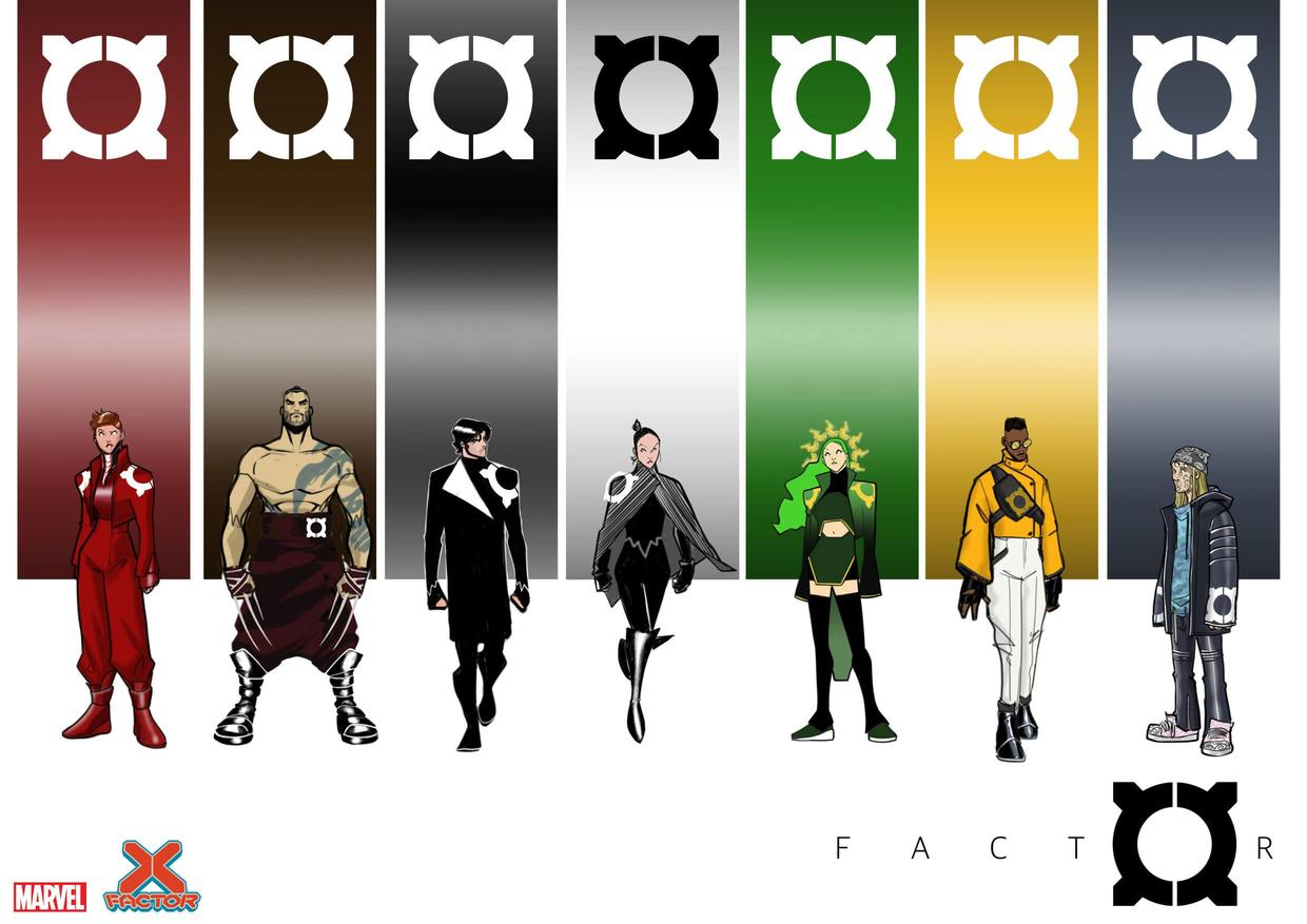 X-Factor costume designs by David Baldeón