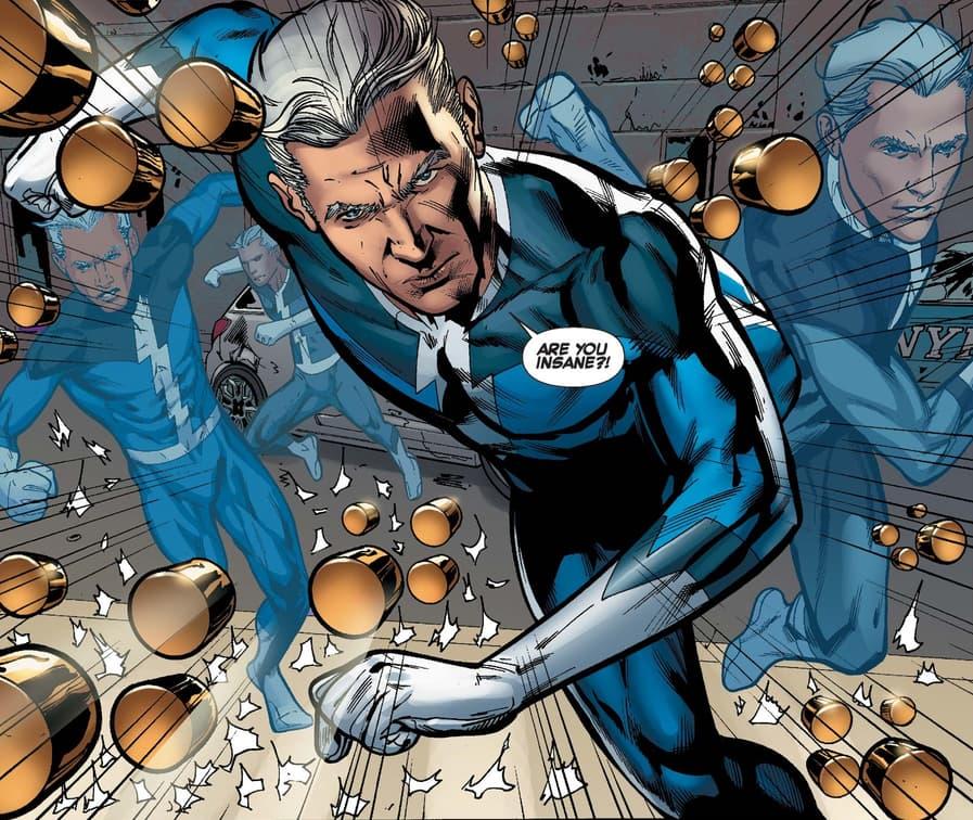 Quicksilver dodges bullets in X-FACTOR (2005) #260.