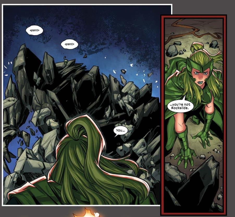 Polaris encounters a resurrected Rockslide.