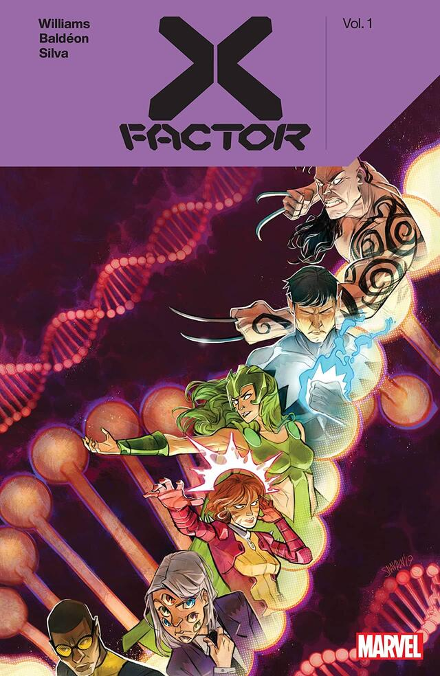 Cover to  X-Factor by Leah Williams Vol. 1 (Trade Paperback).