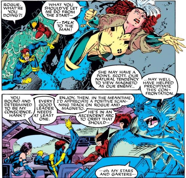 Rogue pursues Magneto