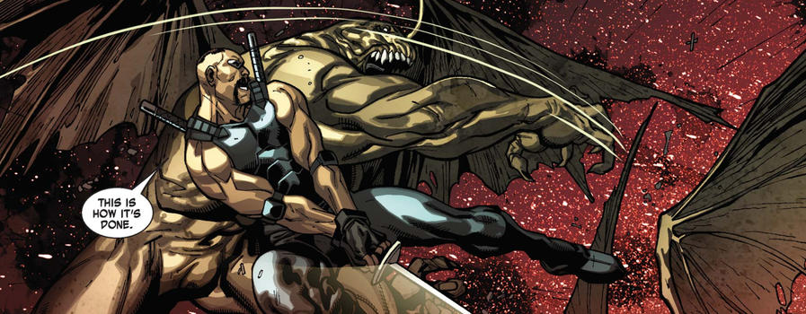 Blade kills creature in X-Men Curse of the Mutants