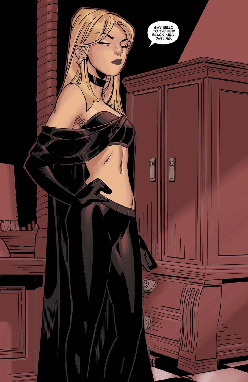 Emma Frost debuts as the Black King in X-MEN: BLACK - EMMA FROST (2018) #1.
