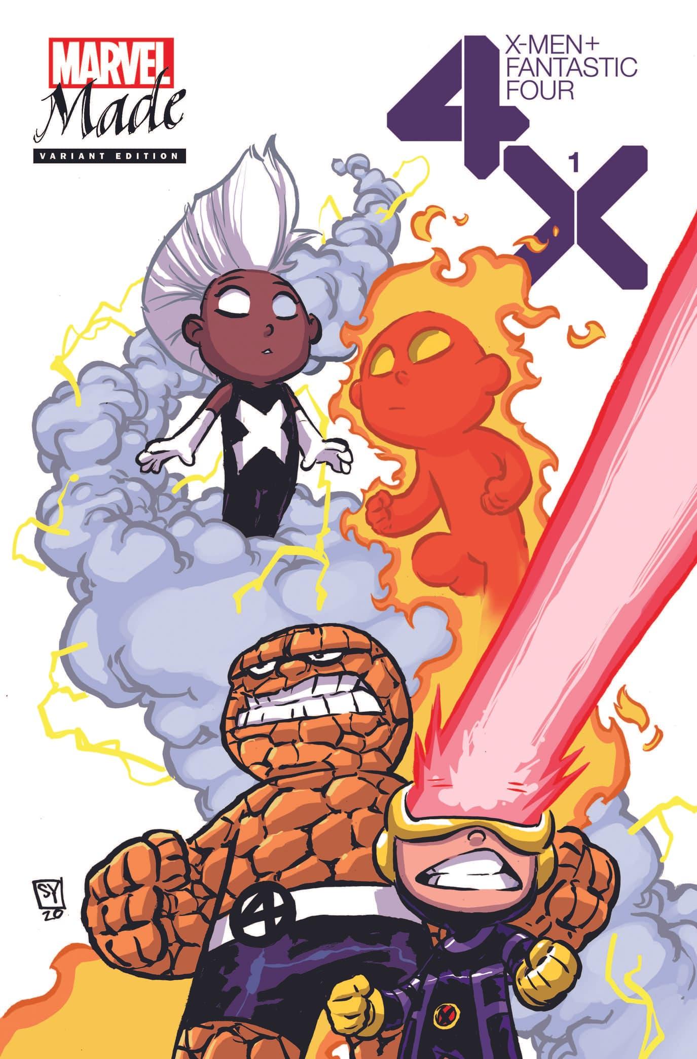 X-Men/Fantastic Four_1_Skottie Young Variant