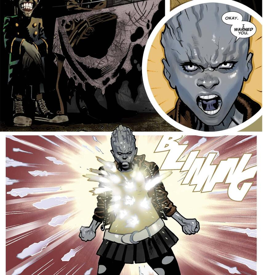 Bling! versus Emplate in X-MEN LEGACY (2008) #228!