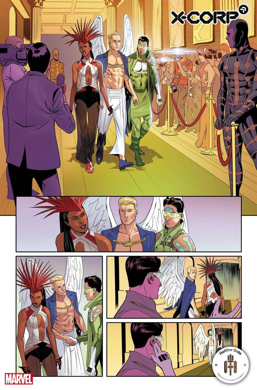 X-CORP #2 preview art by Alberto Foche with colors by Sunny Gho