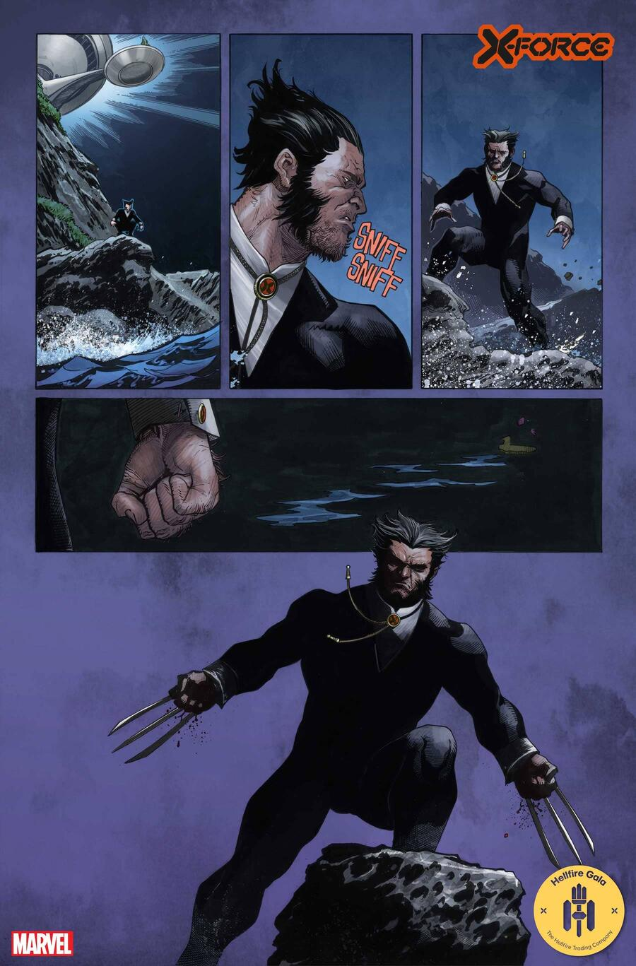 X-FORCE #20 preview art by Joshua Cassara with colors by GURU-eFX