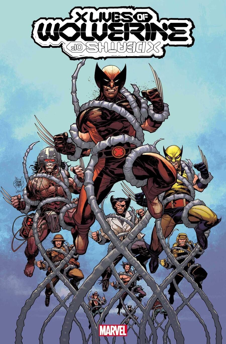 X LIVES OF WOLVERINE #1 cover by Adam Kubert
