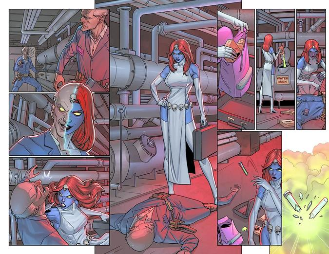 Page from X-Men Black Mystique