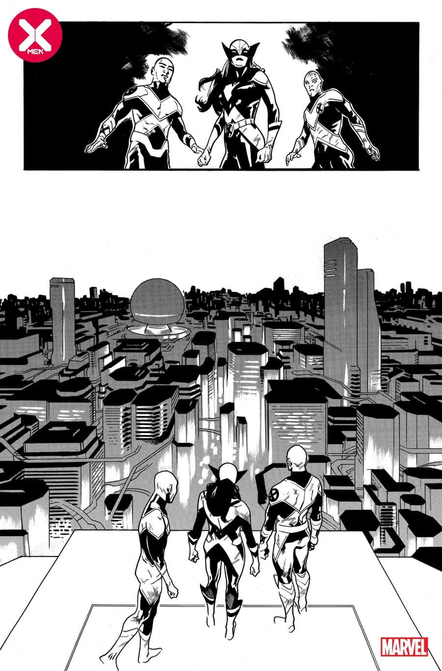 X-MEN #18 preview inks by Mahmud Asrar