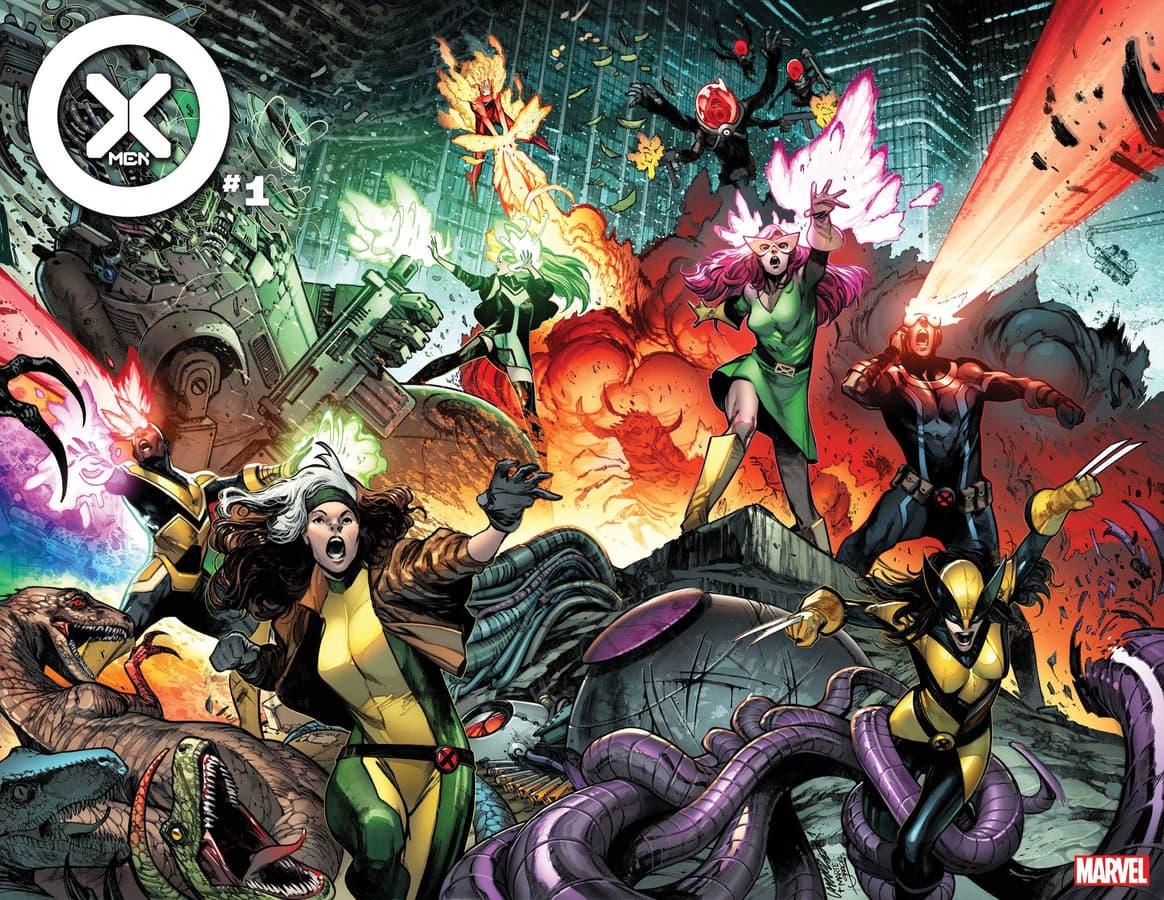 X-MEN #1 cover by Pepe Larraz, colors by Marte Gracia