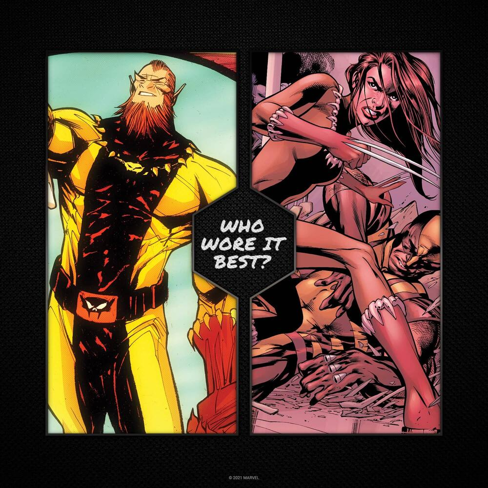 Fang and Wolverine (Laura Kinney) in the same costume.