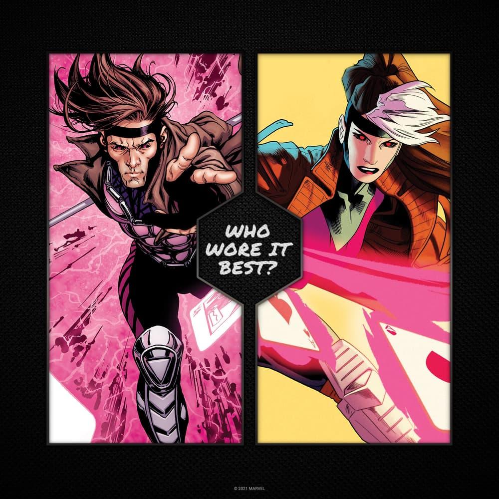 Rogue wears Gambit's look!