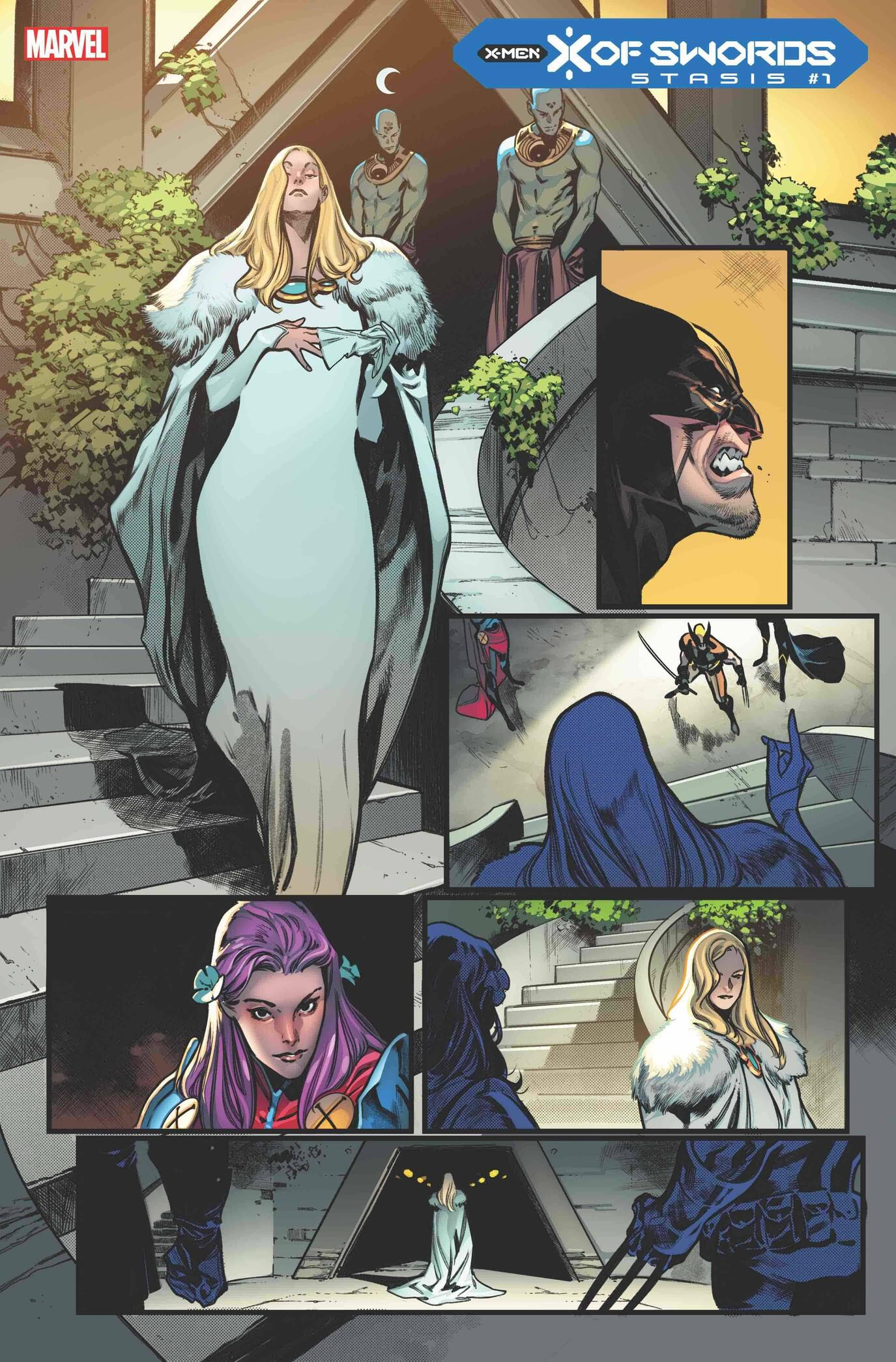 X OF SWORDS: STASIS #1 preview interiors by Pepe Larraz with colors by Marte Gracia