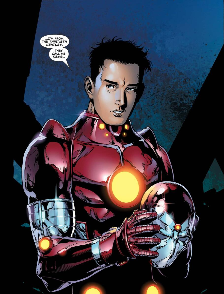 Iron Lad reveals his true identity in YOUNG AVENGERS (2005) #1.