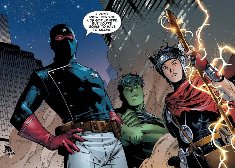 Meet the Patriot, leader of the Young Avengers!