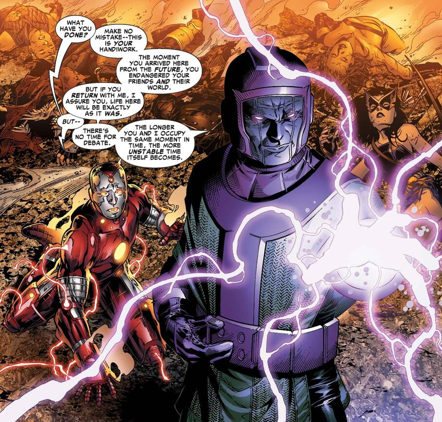 A display of raw power in YOUNG AVENGERS (2005) #5.