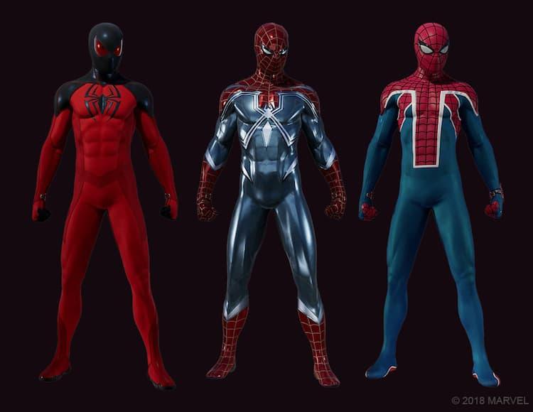 Marvel's Spider-Man - Resilient Suit, Scarlet Spider II Suit, Spider-UK Suit