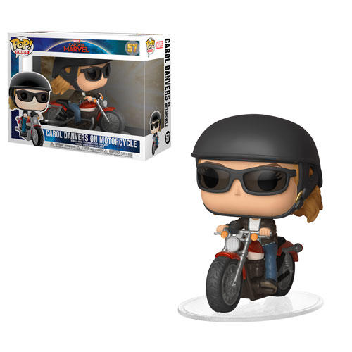 Captain Marvel on motorcylce Pop!