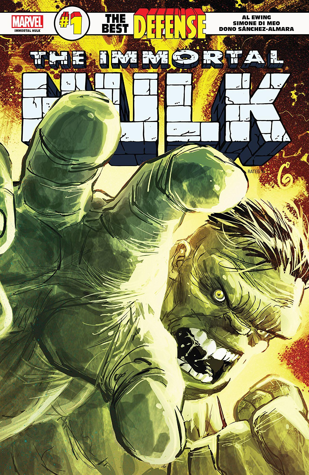 Immortal Hulk: The Best Defense #1 cover by Ron Garney
