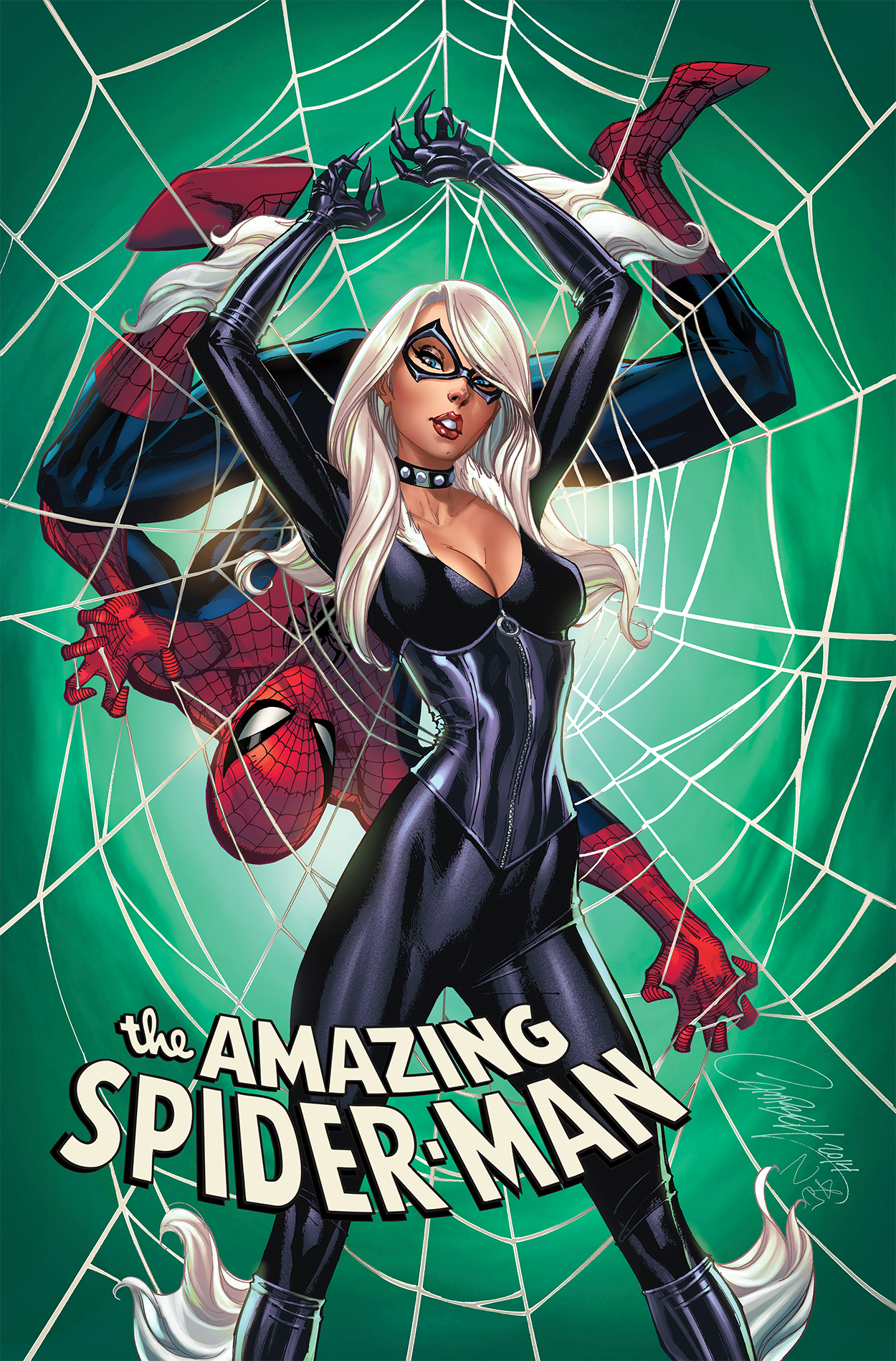 Amazing Spider-Man #10 Variant art by J. Scott Campbell with colors by Nei Ruffino