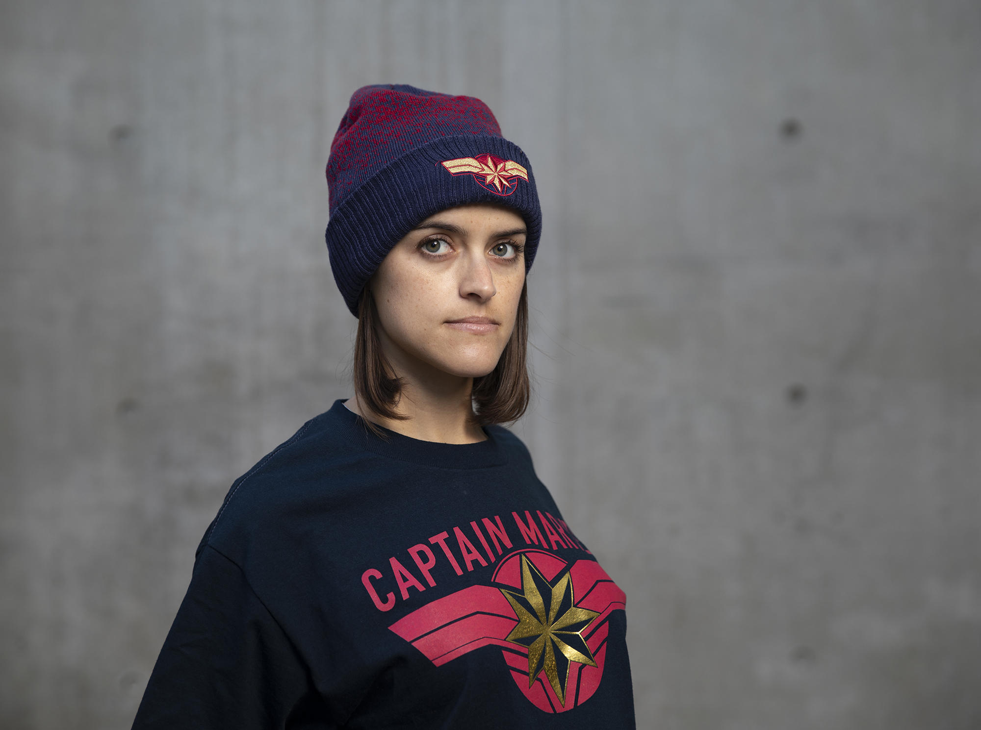 Captain Marvel shirt & hat