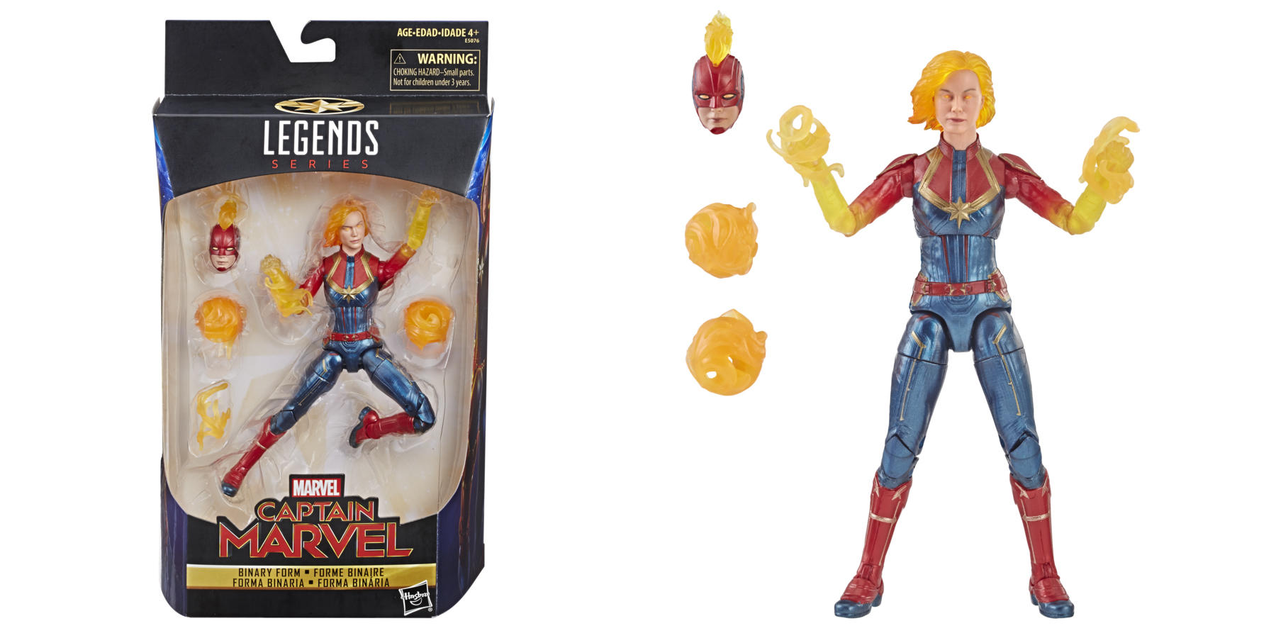 Marvel Captain Marvel 6-Inch Legends Binary Form Figure