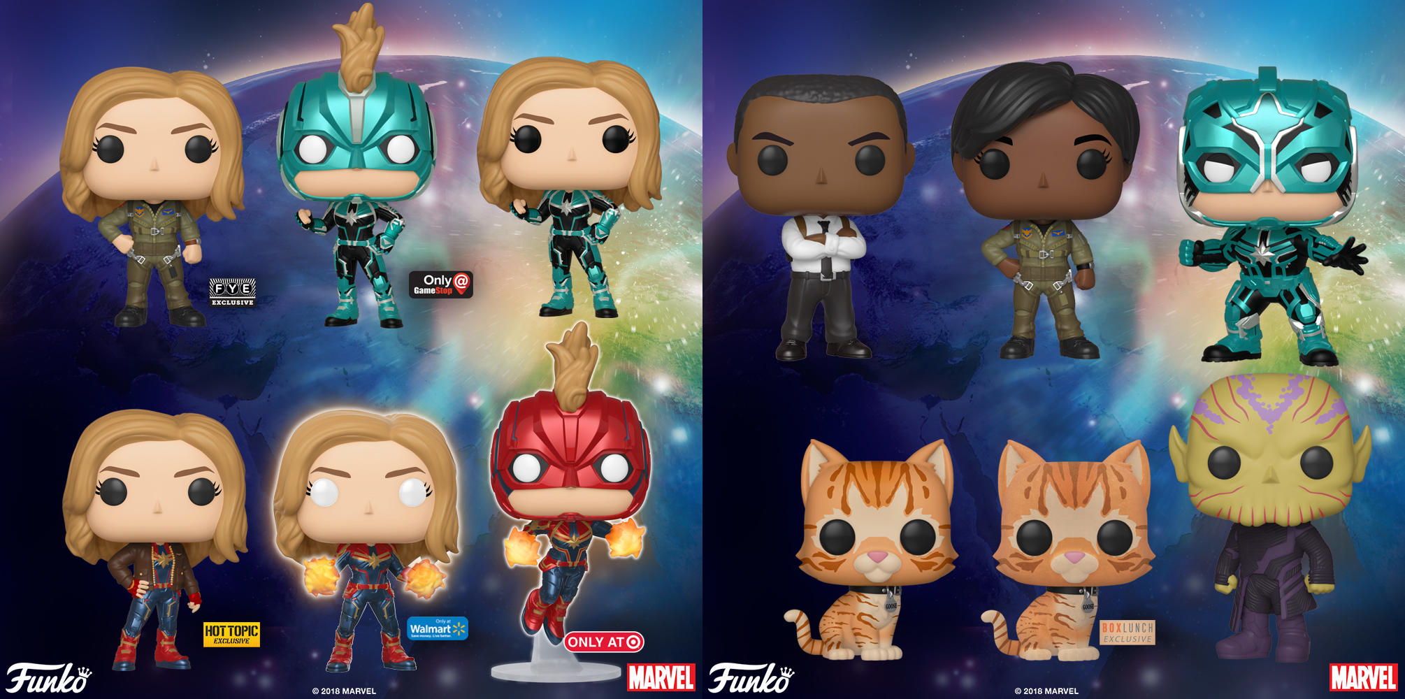 Captain Marvel POP! Figures