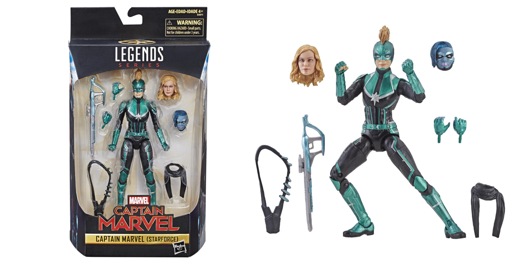 Marvel Captain Marvel 6-Inch Legends Captain Marvel (Starforce) Figure