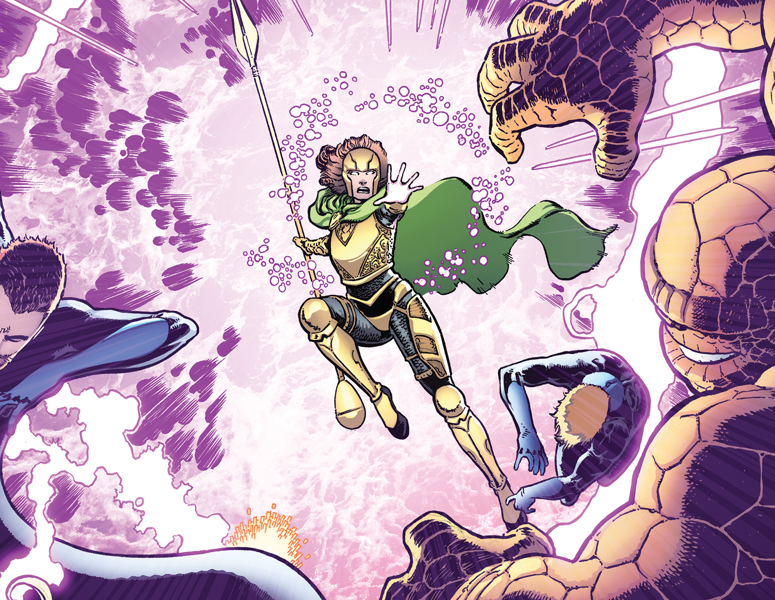FANTASTIC FOUR #6 Interior art by Aaron Kuder with colors by Marte Gracia & Erick Arciniega