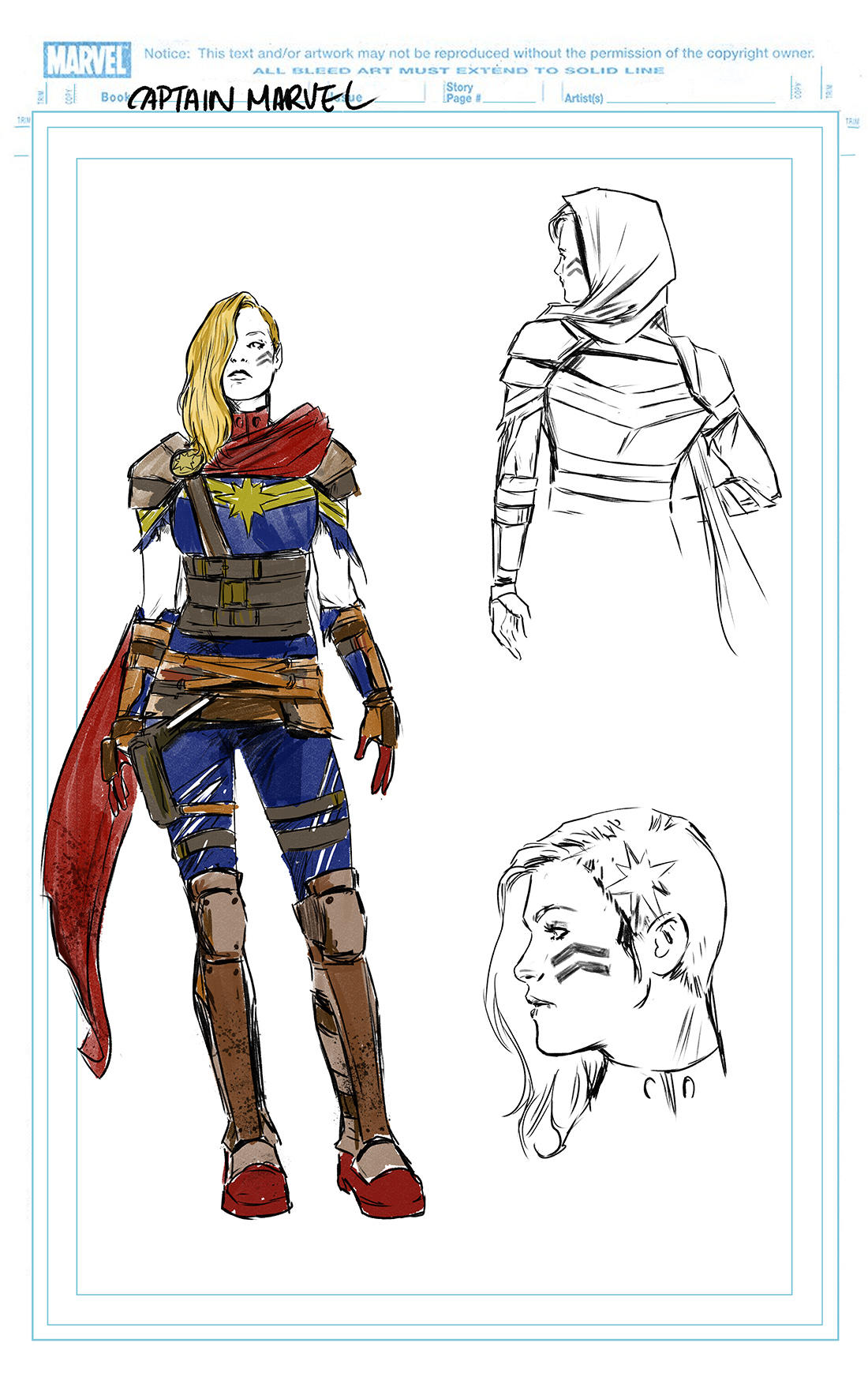 CAPTAIN MARVEL #2: Captain Marvel design by Carmen Carnero