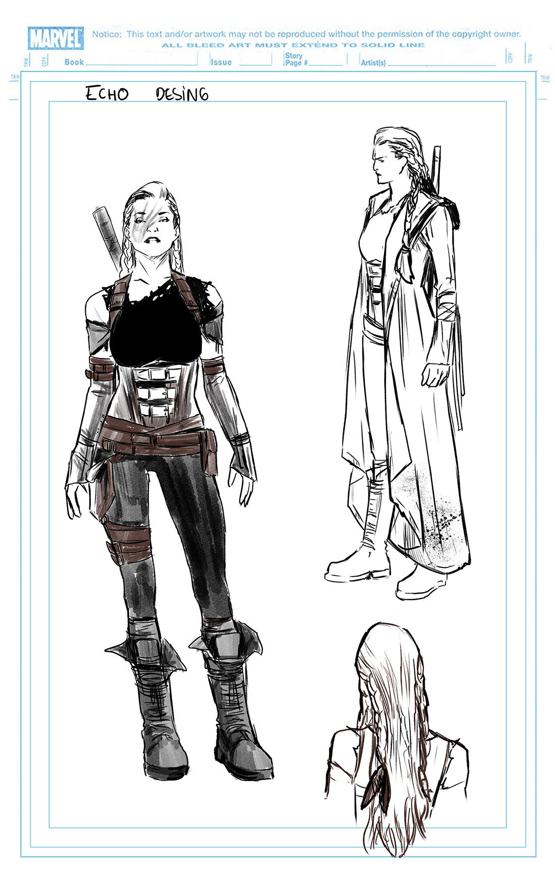 CAPTAIN MARVEL #2: Echo design by Carmen Carnero