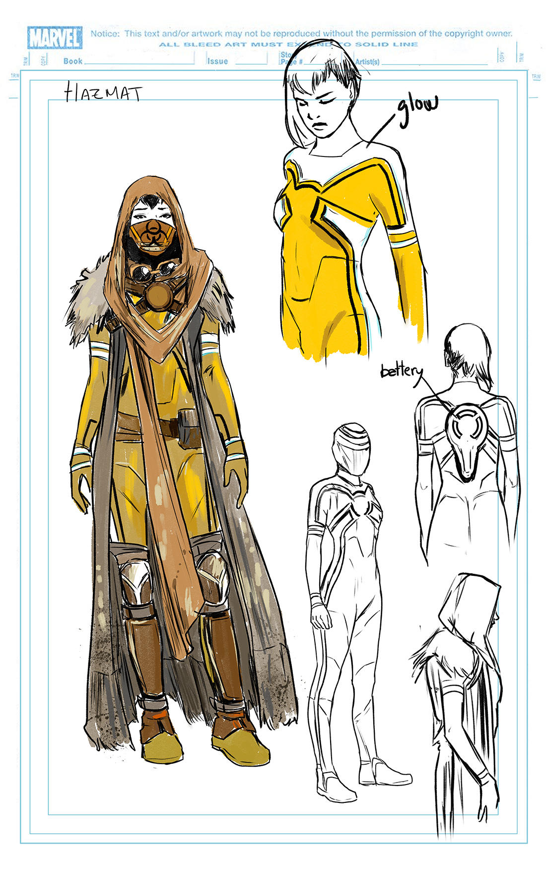 CAPTAIN MARVEL #2: Hazmat design by Carmen Carnero