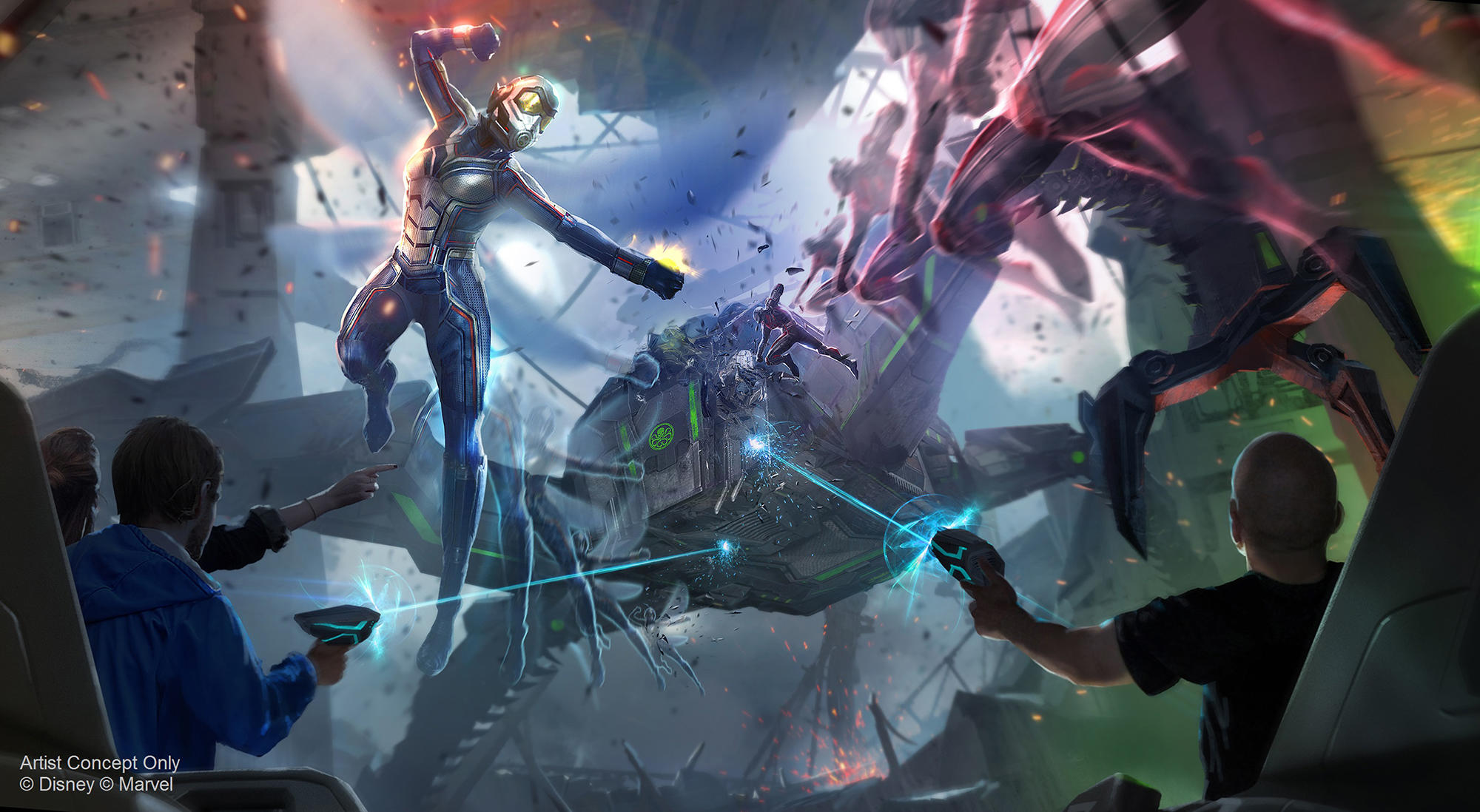 Artist Concept for Ant-Man and The Wasp: Nano Battle! at Hong Kong Disneyland