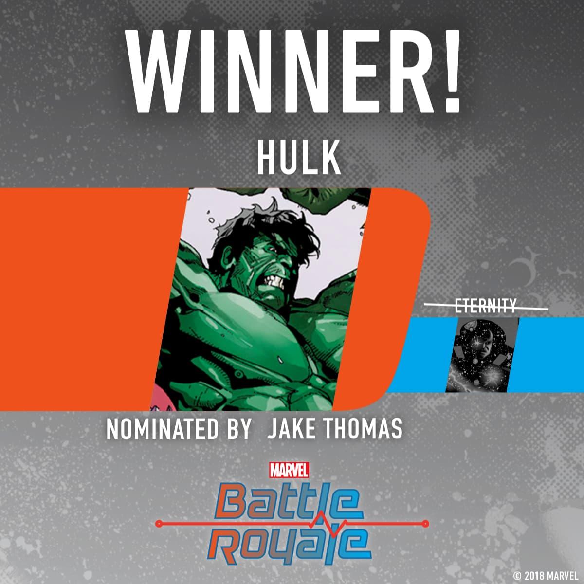 Hulk wins