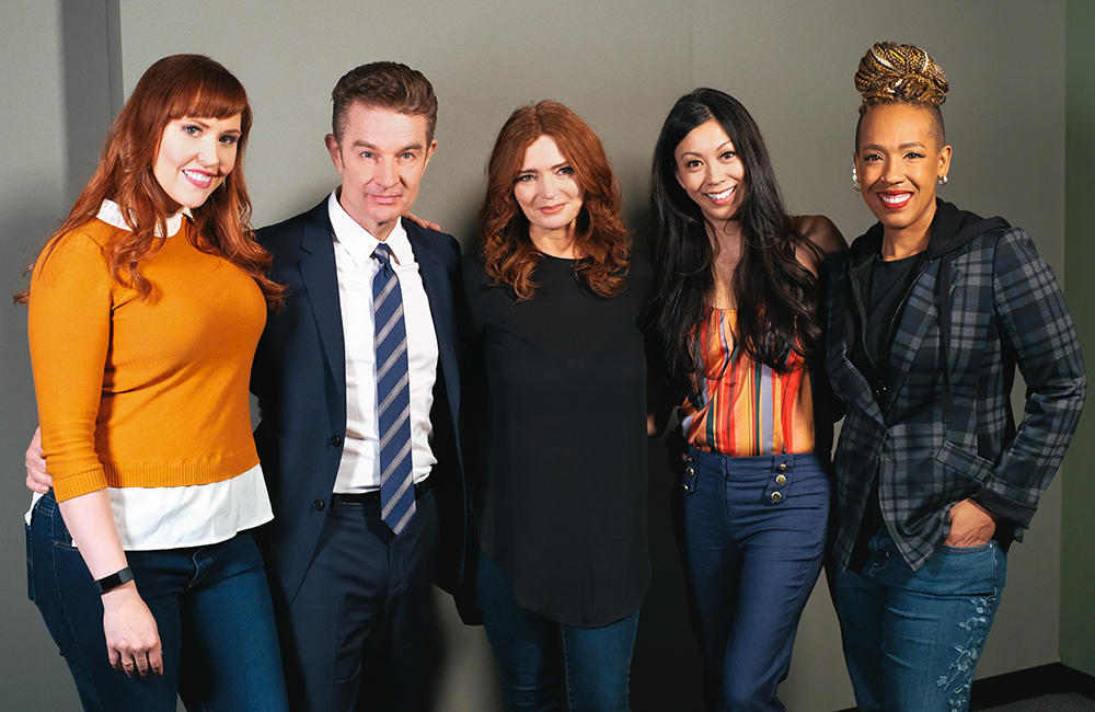 Hosts Lorraine Cink & Angélique Roché with James Masters, Brigid Brannagh & Brittany Ishibashi