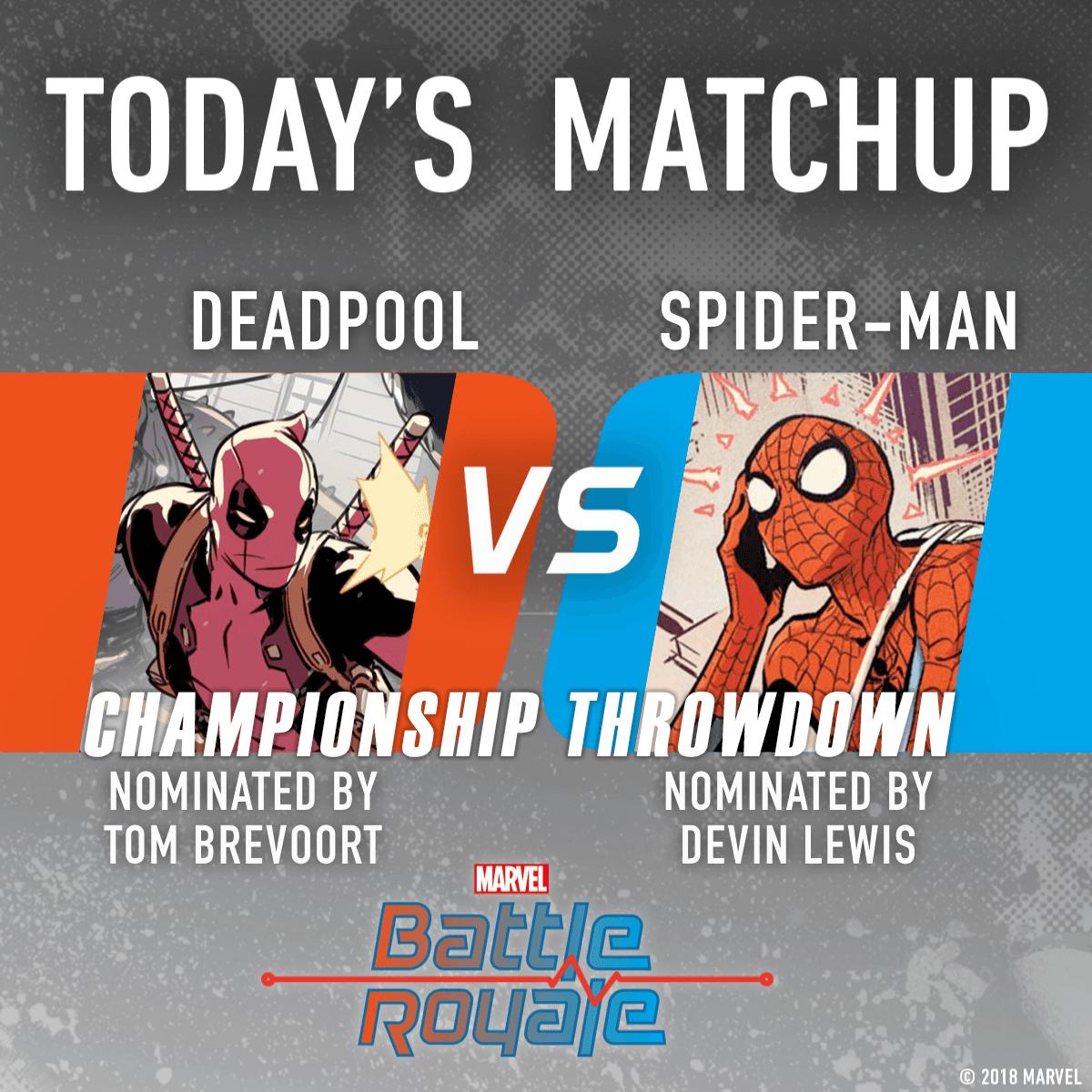 Deadpool vs. Spider-Man