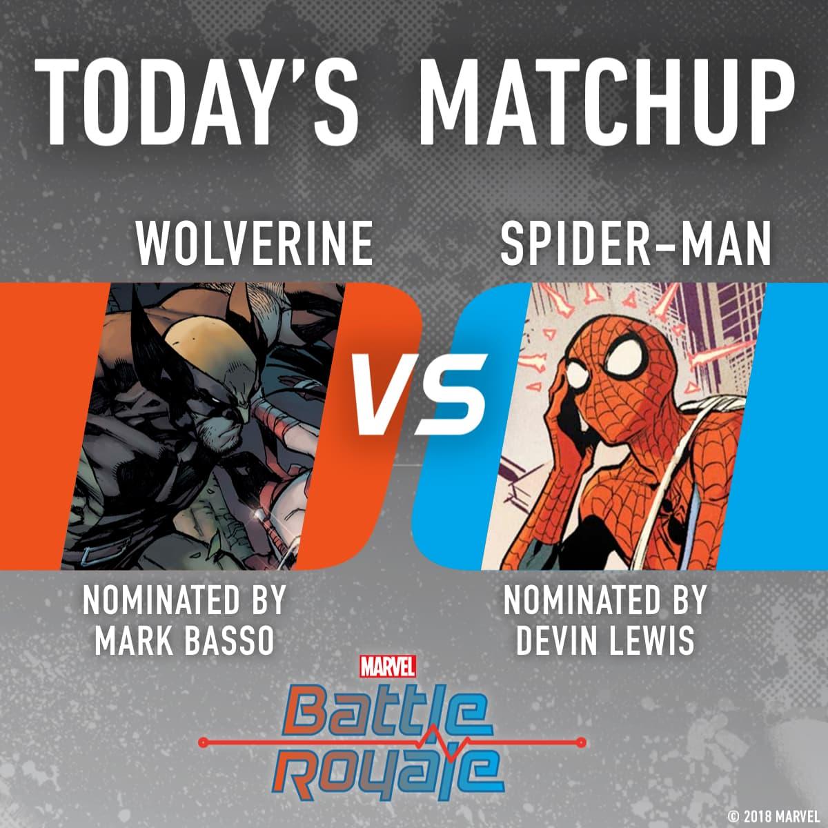 Wolverine vs. Spider-Man