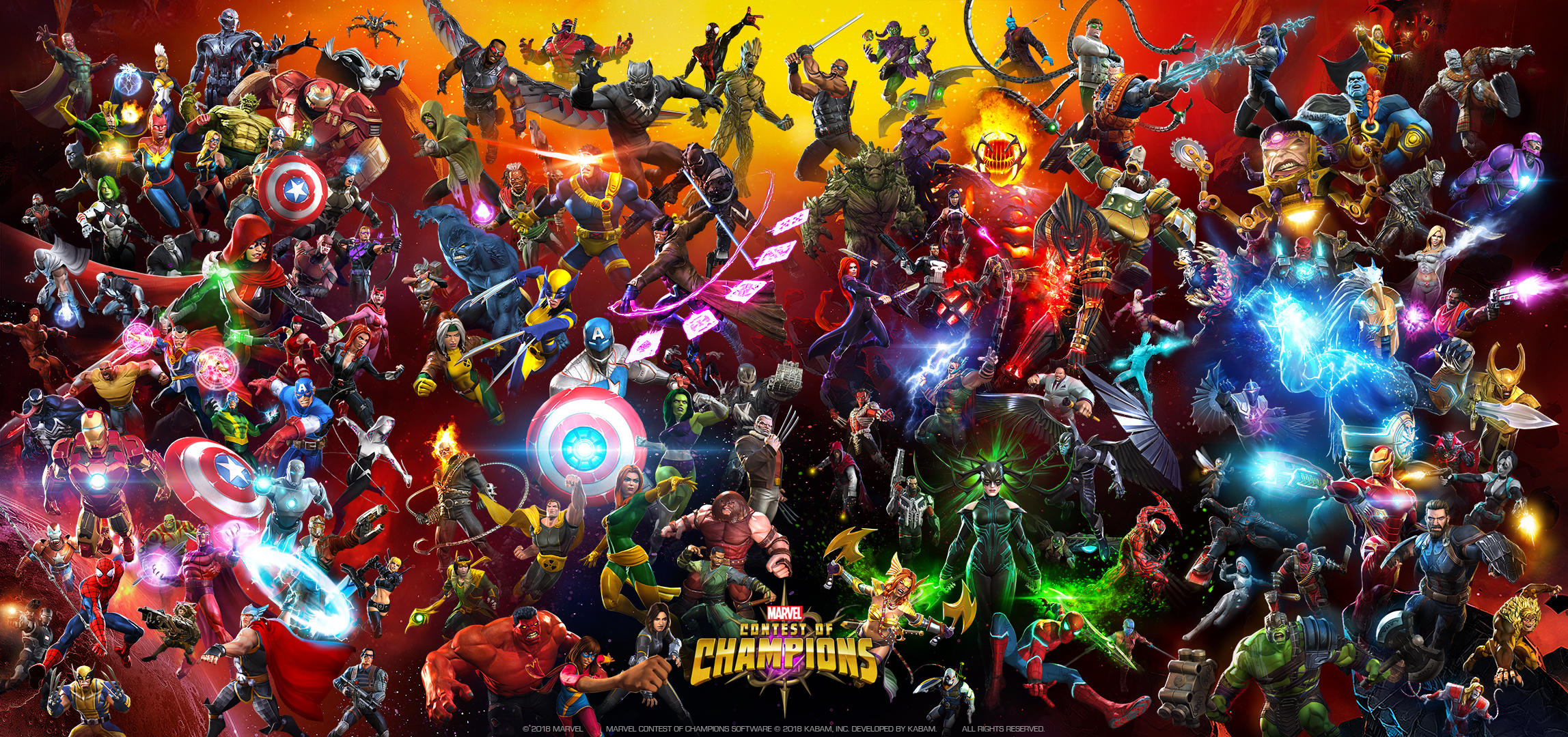 Marvel Contest of Champions - 4th Anniversary Poster