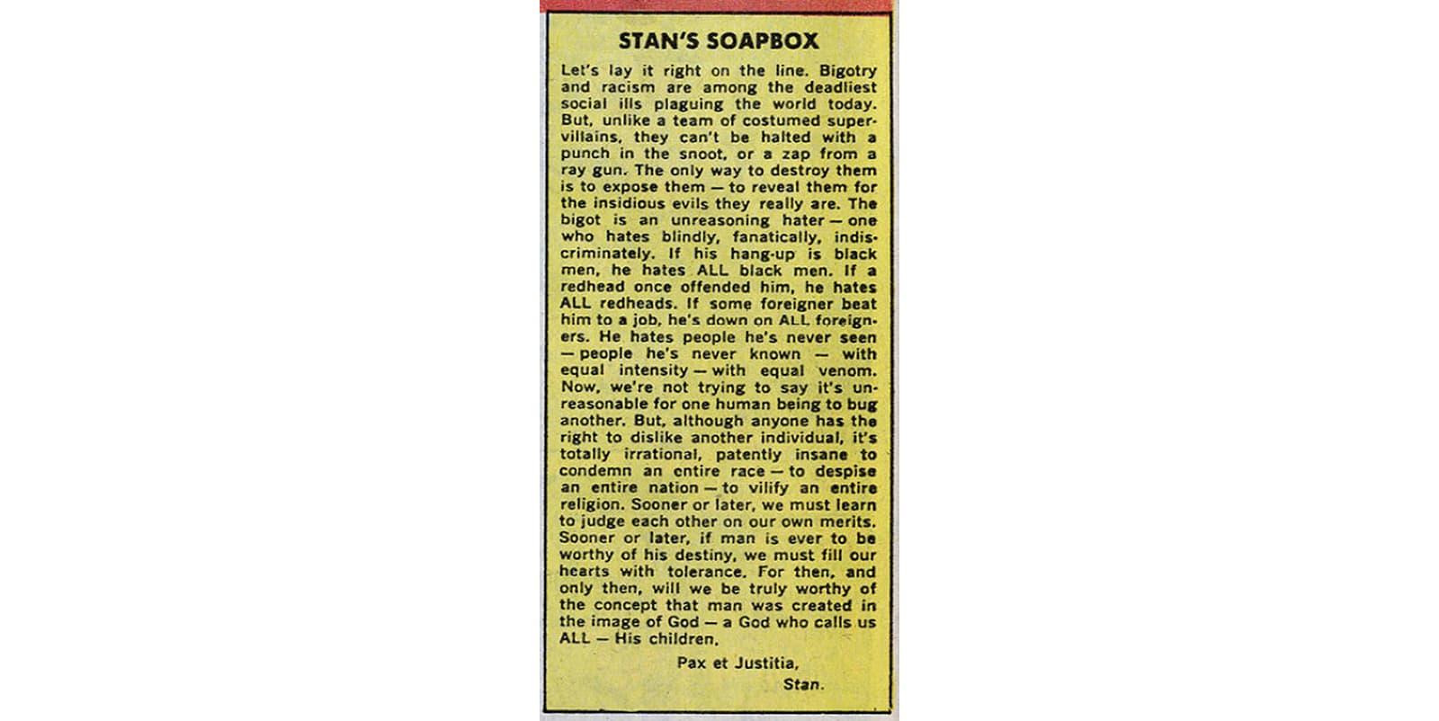 Stan's Soapbox 1968