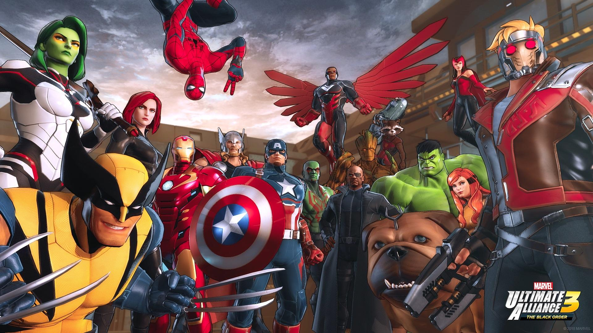Marvel Ultimate Alliance 3- Group Shot