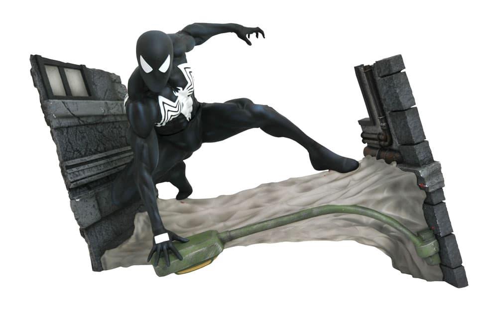 Marvel Comic Gallery FCBD Black Costume Spider-Man PVC Diorama