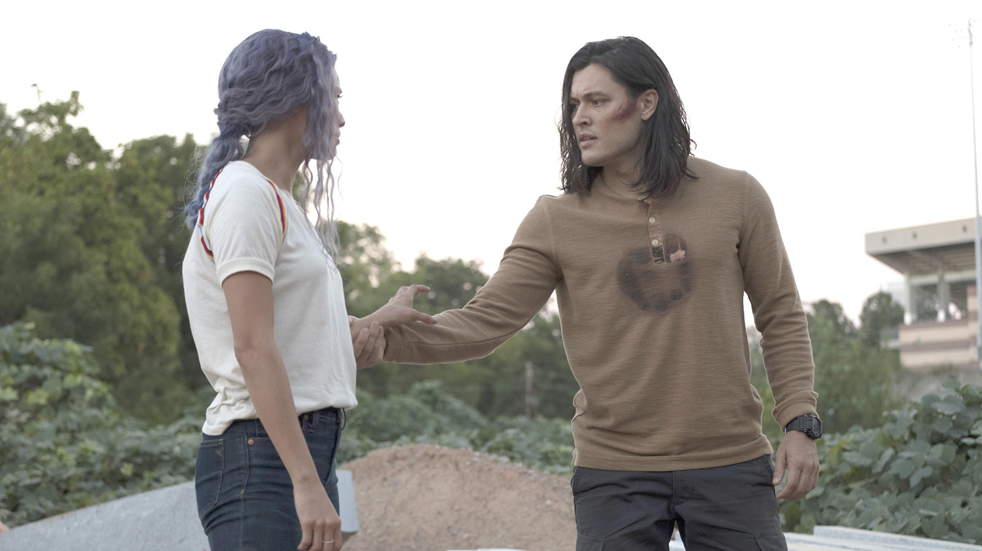"Jamie Chung and Blair Redford in ""The Gifted"""