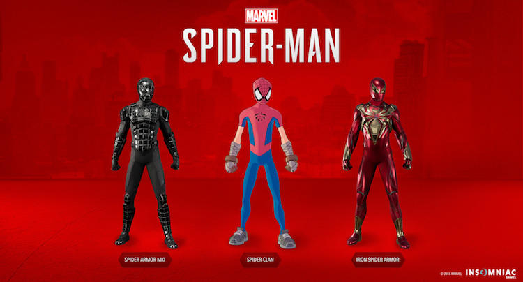 Marvel's Spider-Man: Turf War new suits -- classic Iron Spider armor, Spider-Armor MK I, Spider-Clan suit
