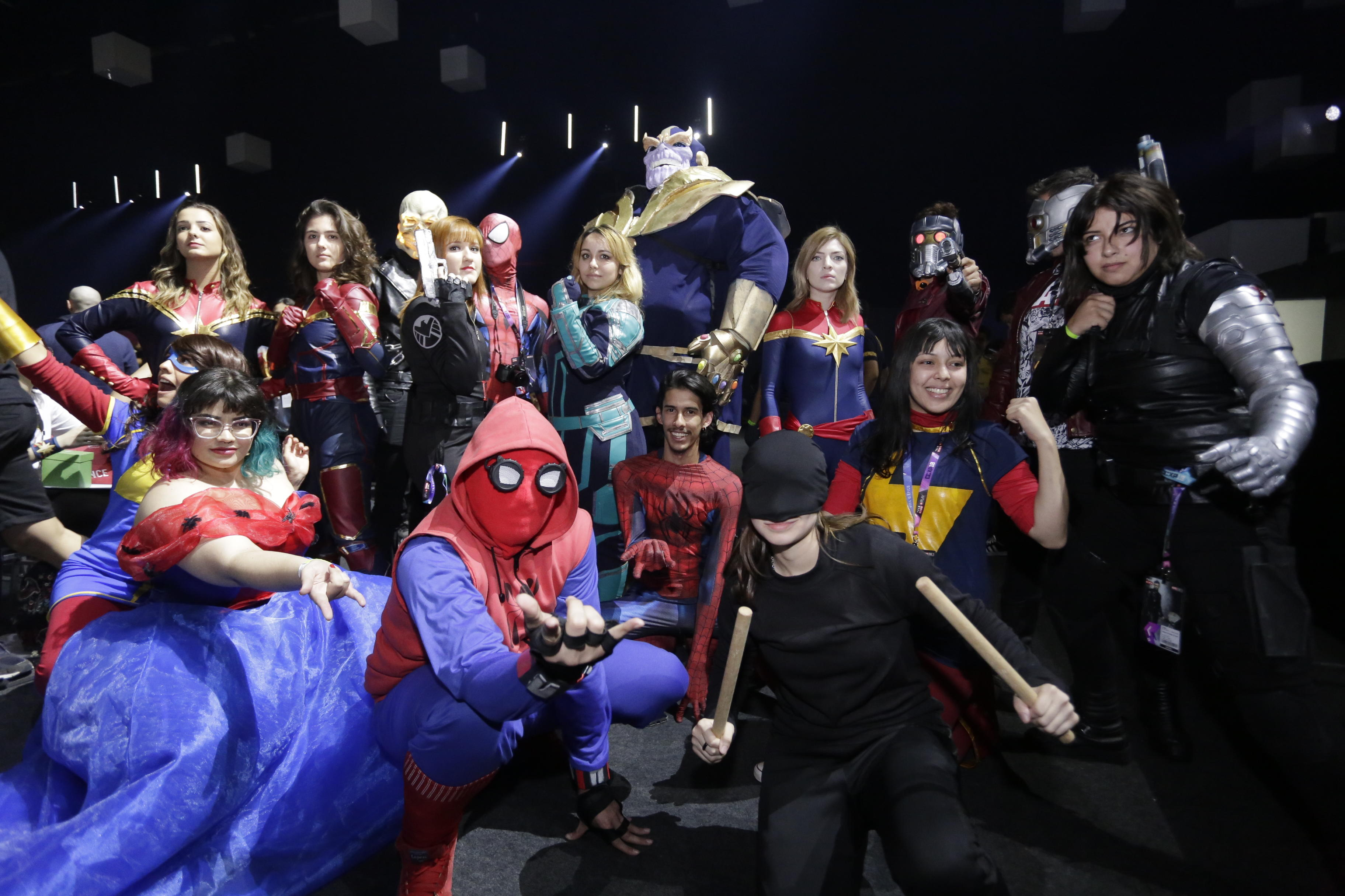 Marvel fans at CCXP18 in São Paulo